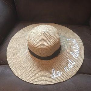 Accessories - Do Not Disturb Straw Summer Wide Brim Hat